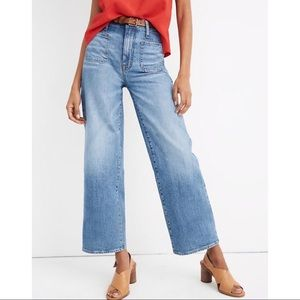 Madewell Wide-Leg, High Waisted Cropped Jeans - 23